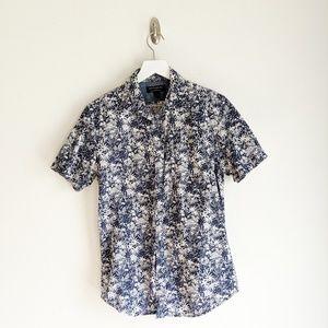 Banana Republic Palm Print Slim-Fit Shirt